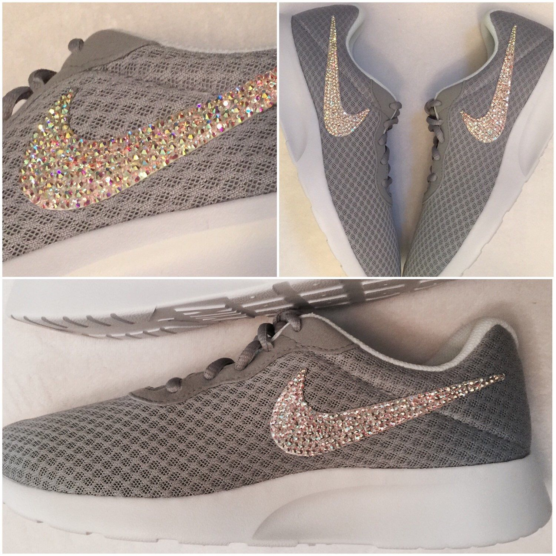9437f95d93bfc2 Nike Tanjun · Grey Nikes · My Etsy Shop · Swarovski Crystals · A personal  favorite from my Etsy shop https   www.etsy.com