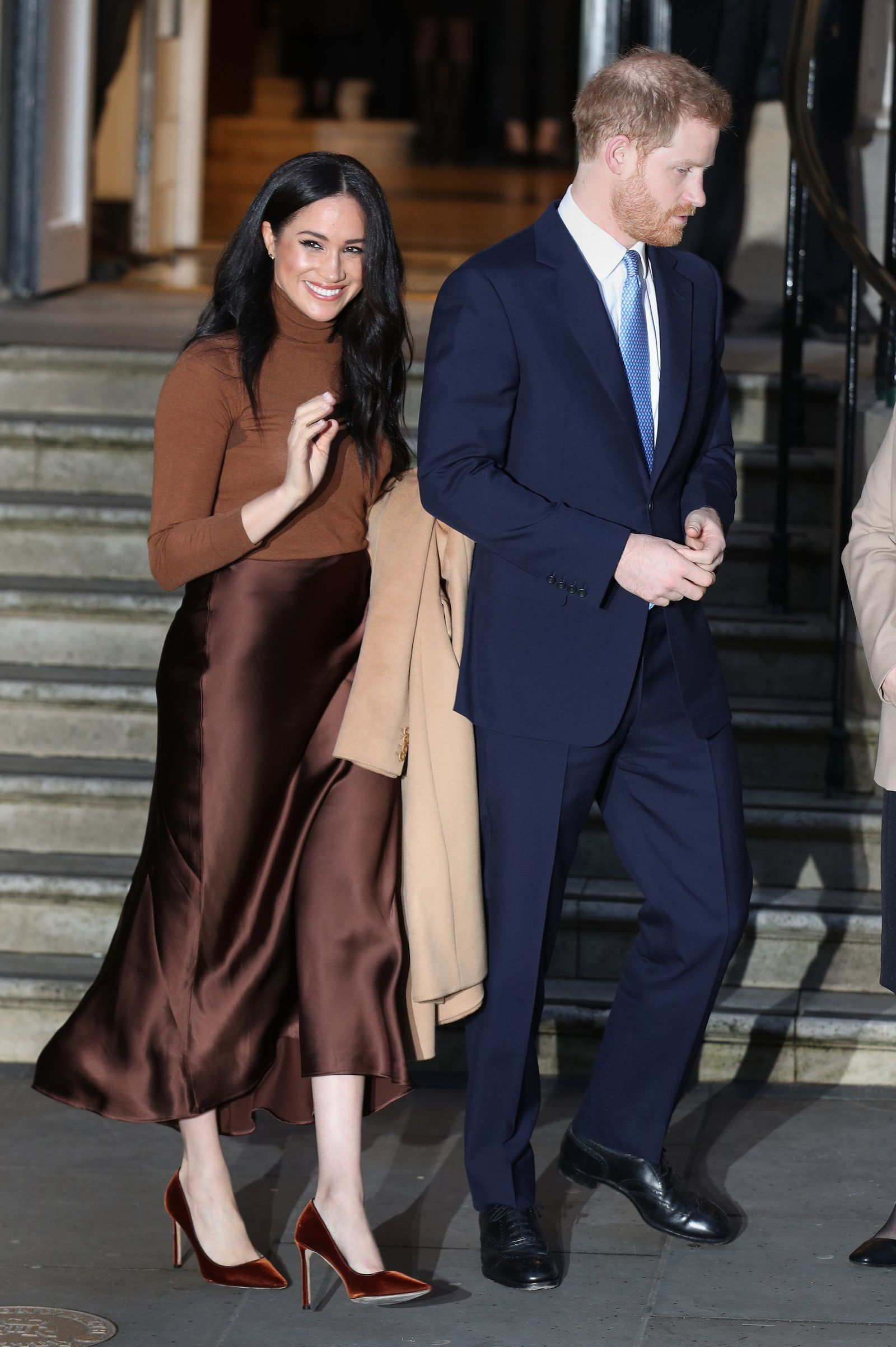 every photo of meghan markle prince harry s first appearance of 2020 in 2020 meghan markle style royal fashion meghan markle prince harry meghan markle prince harry