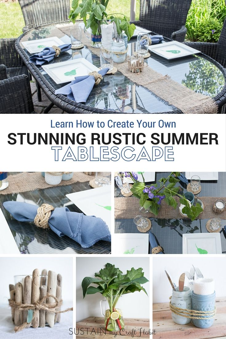 learn how to create a beautiful rustic summer tablescape with this