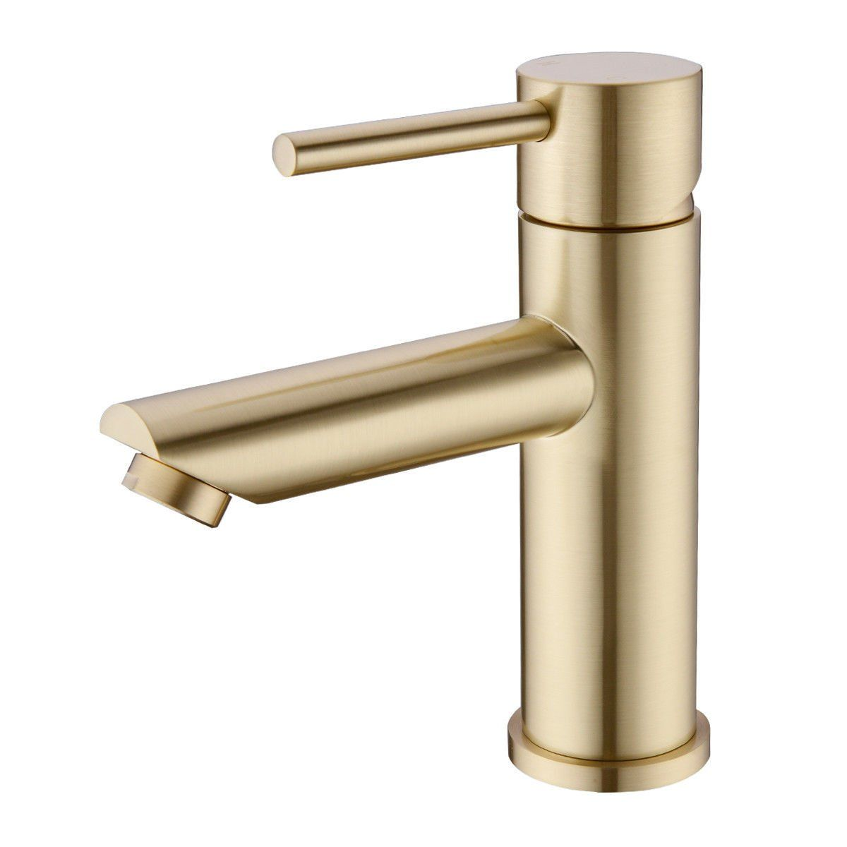 Trustmi Brass Brushed Gold Single Lever Bathroom Basin Mixer Tap Sink Faucet Short Amazon Co Uk Diy To Gold Kitchen Faucet Basin Mixer Taps Sink Mixer Taps