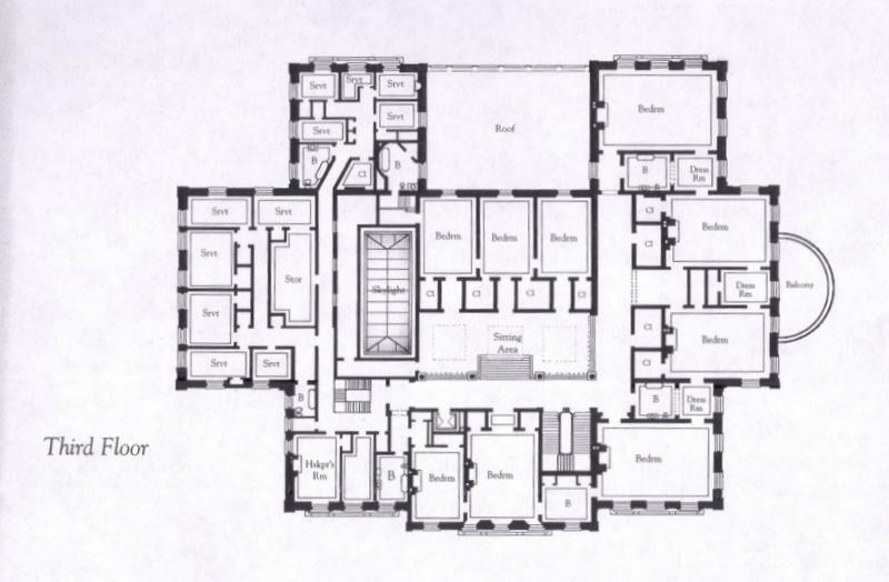 The Breakers 3rd Floor Mansion Floor Plan Unique Floor Plans Floor Plans