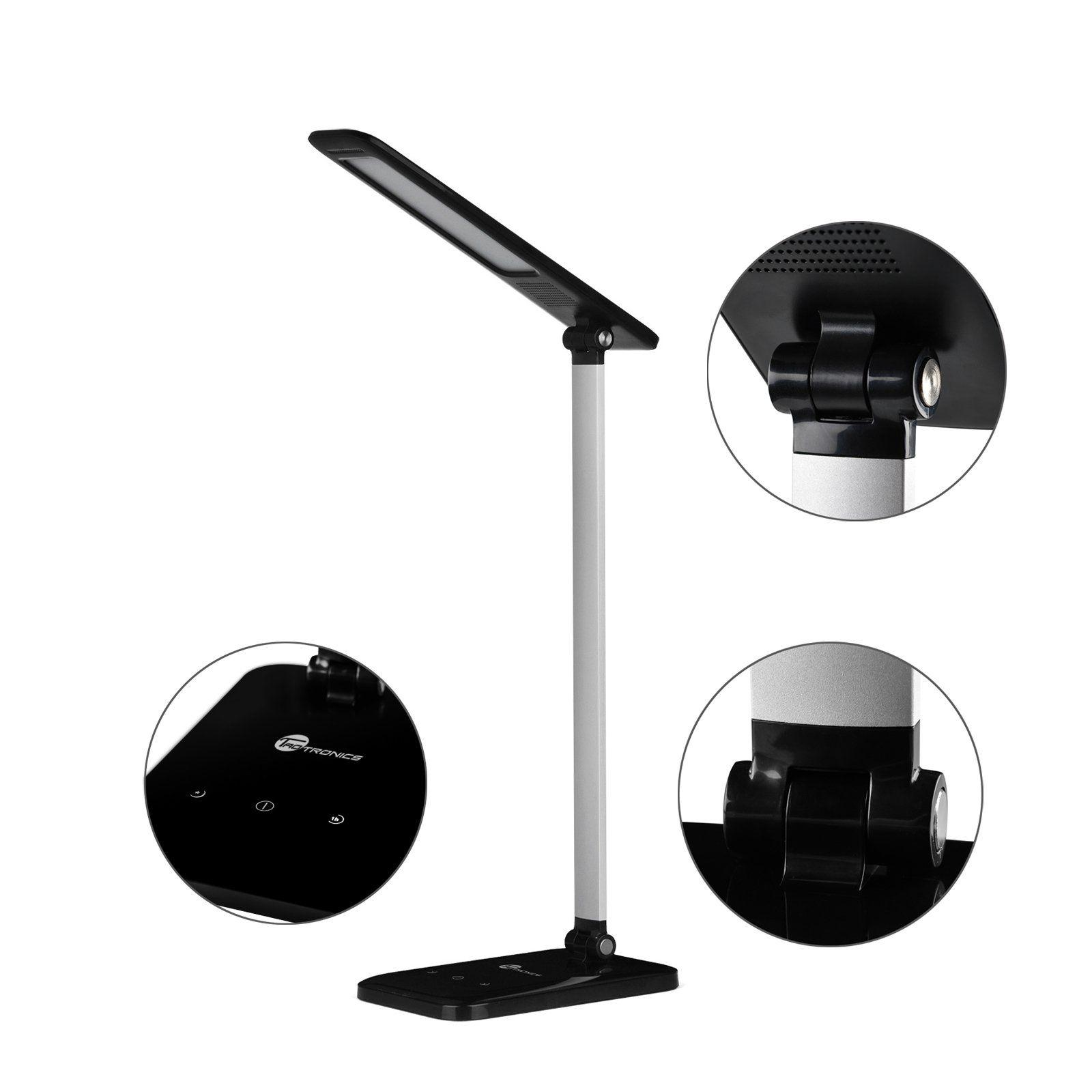Cool Reading Light taotronics led desk lamp, dimmable led table lamp, cool white