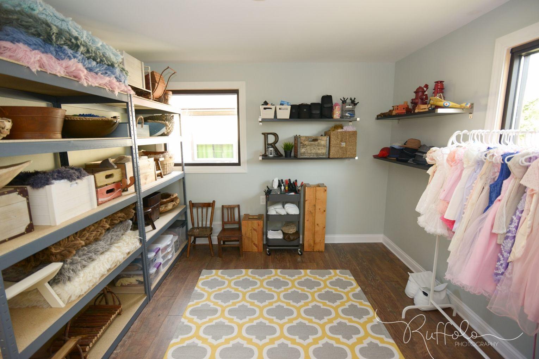 Prop Storage, Photography Studio Prop Room, Props, Kenosha Photographer,  Newborn Photography Studio