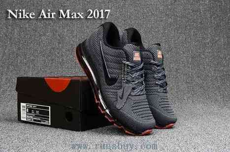 9a65c935d9082 New Nike Air Max 2017 Carbon Grey Mens Shoes  Runsairmax2017-245  -  76.50