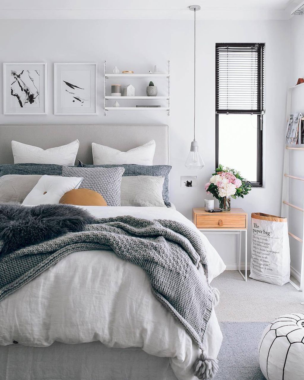 simple and elegance scandinavian bedroom designs trends