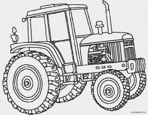 John Deere Tractor Coloring Pages to Print | Kids | Pinterest | John ...