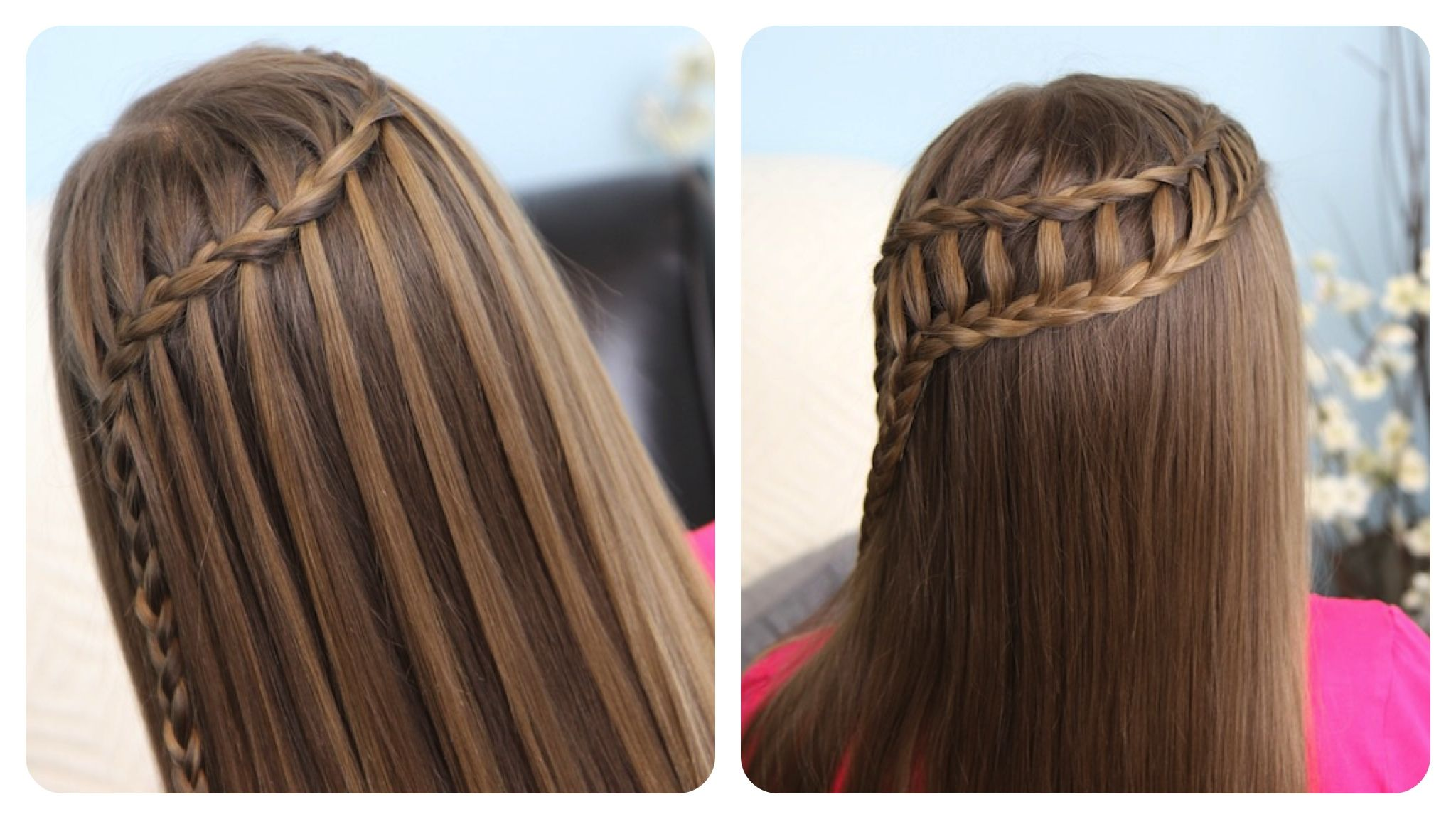 Hairstyles Cute girl hairstyles waterfall braid & ladder braid