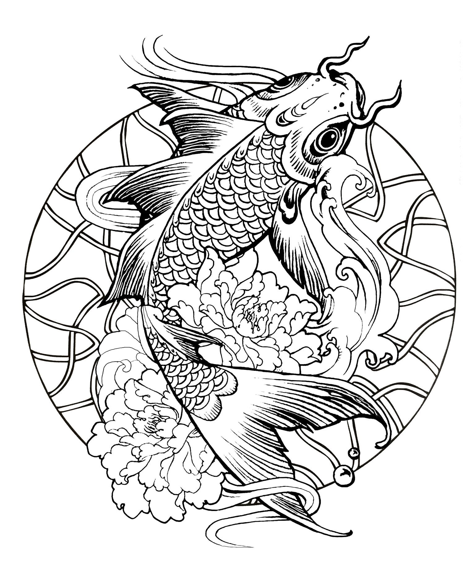 Here are Difficult Mandalas Coloring pages for adults to ...