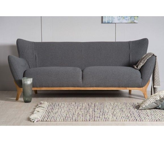 Willow Modern 3 Seater Sofa Dark Grey Modern Contemporary Sofa