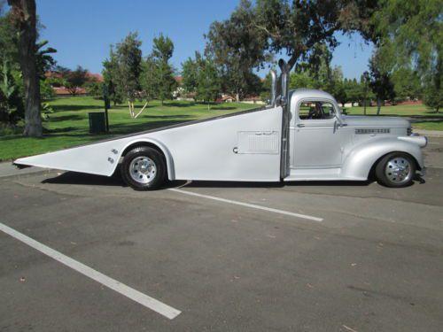 1946 CHEVY TOW TRUCK STREET ROD CUSTOM CHOPPED DUALLY CAR
