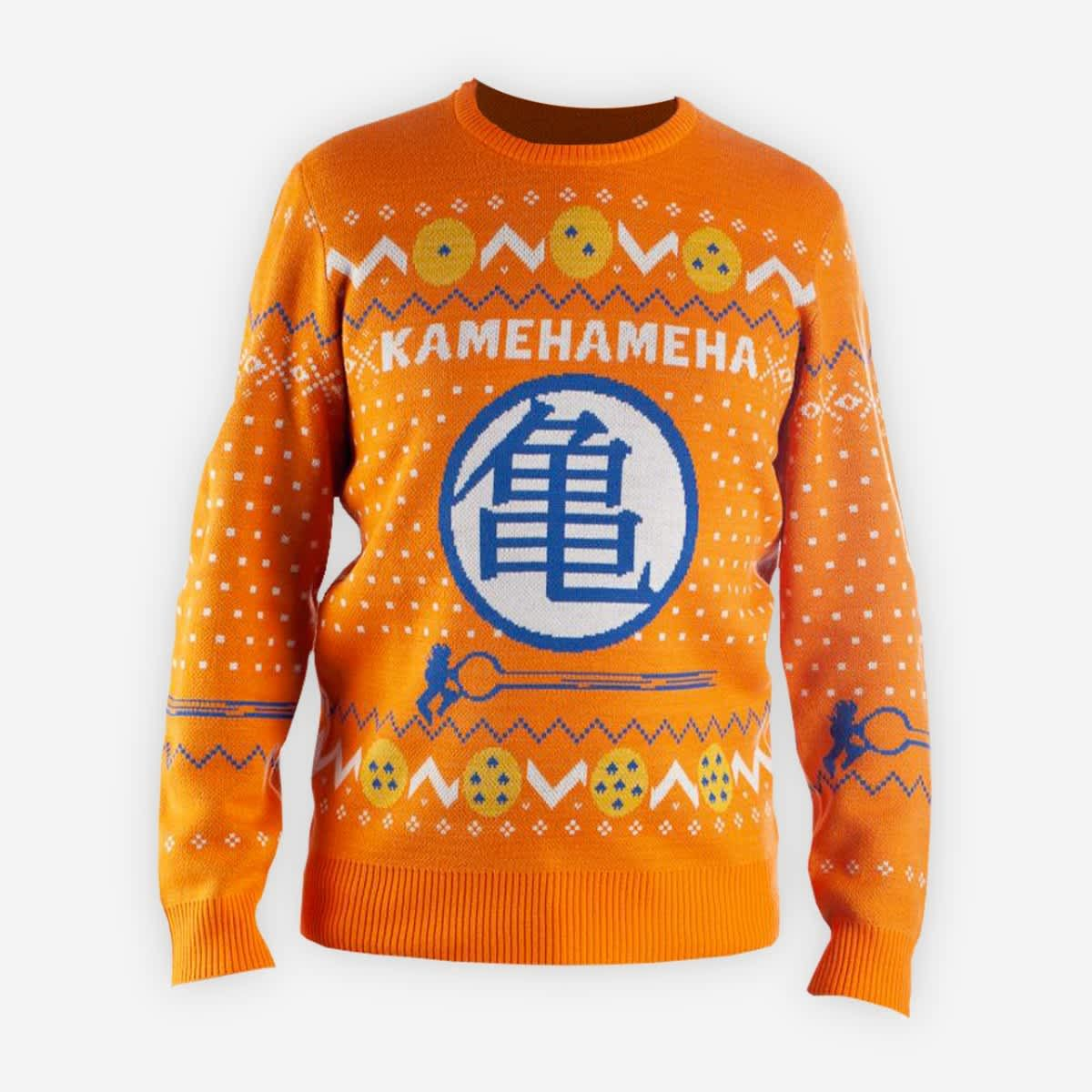 Reach Your Final Form This Holiday Season With Our Dbz Sweater Because You Know What They Say Orange Is The Dragon Ball Super Funny Holiday Sweater Sweaters