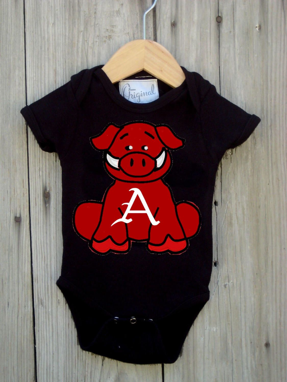 783736b73 Future Tailgater Arkansas Razorback Baby Onesie Dress DHM Kids ...