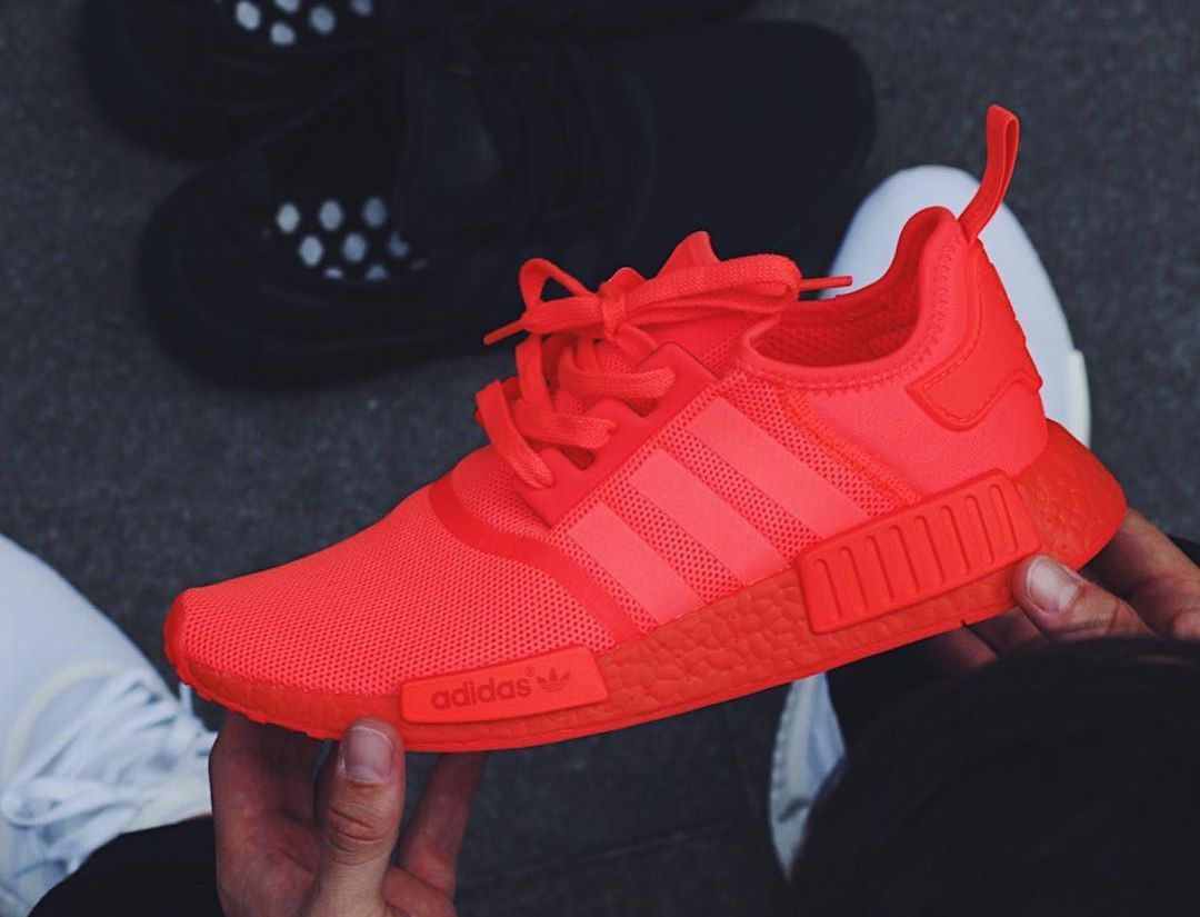 Adidas Nmd R1 Runner Boost Rouge Triple Solar Red Adidas Shoes