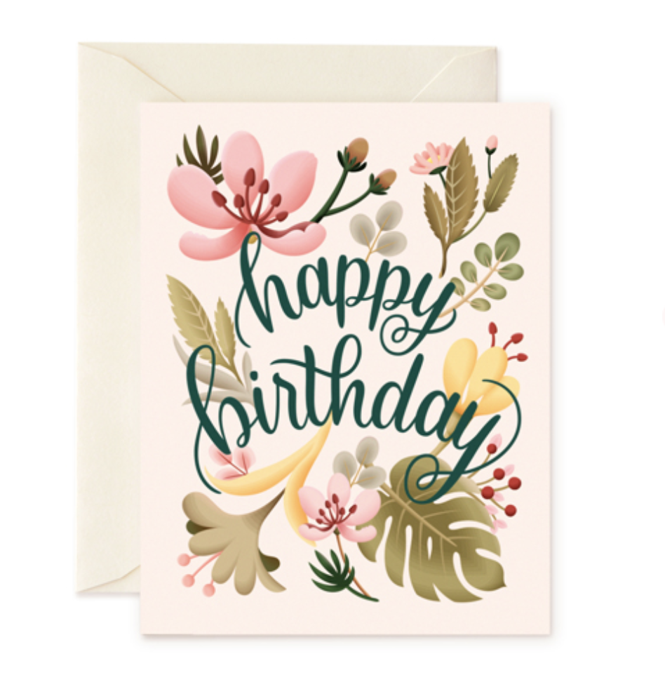 Tropical Birthday Birthday Cards For Her Happy Birthday Card Design Birthday Card Design