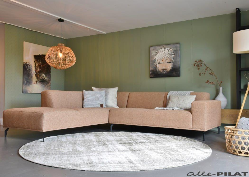 Vloerkleed Gabi Rond Met Vintage Uitstraling Woonwinkel Alle Pilat Hoekbank Thuisdecoratie Woonkamerbank