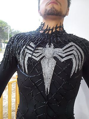 Venom Adult Lifesize Costume Black Spiderman Carnage Antivenom