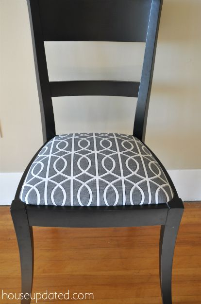 How To Recover Dining Room Chairs, This Time With Dwell Studio Bella Porte  Charcoal (gate) Fabric.