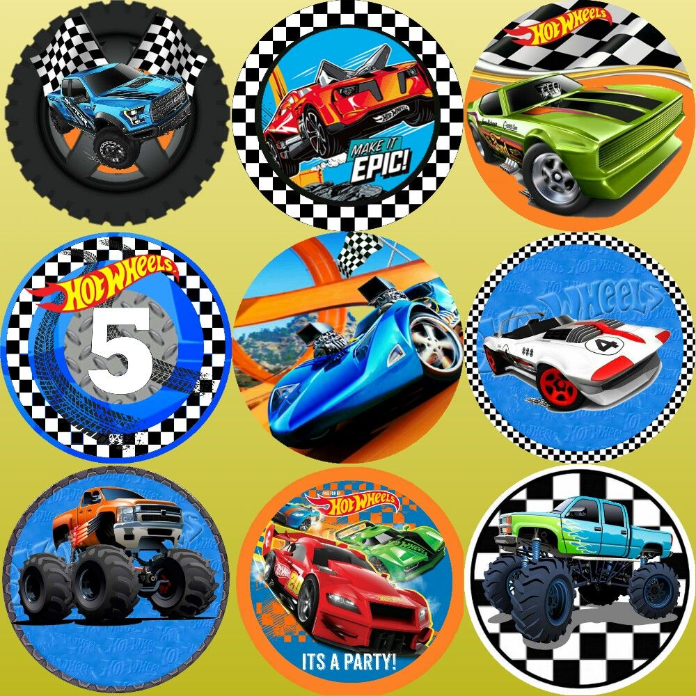 Hot Wheels Circle Toppers Festa Infantil Carros