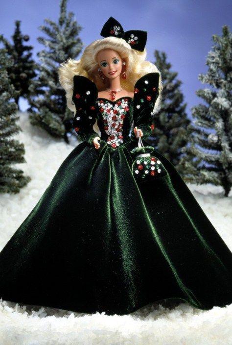 1991 Happy Holidays Barbie Doll
