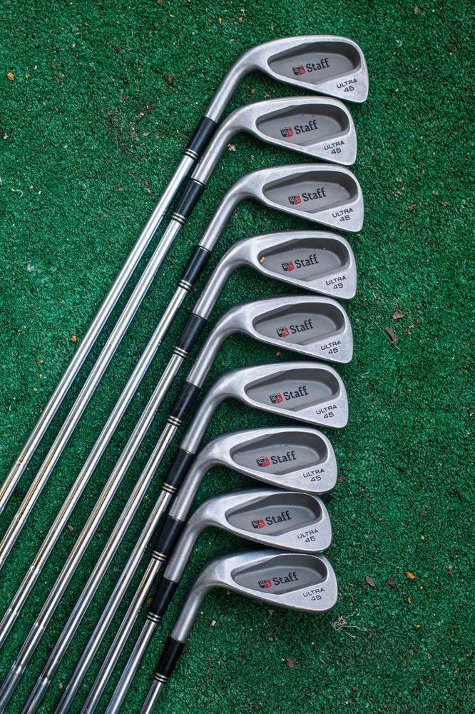 wilson staff ultra 45 lefthanded iron set 2-pw irons - used golf