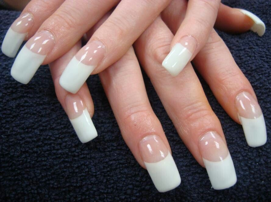 French tips | NAIL ART GALLERY | Pinterest | Curved nails, Manicure ...