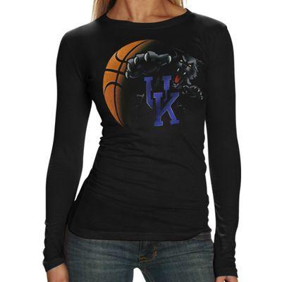 best website e363d 6620b Kentucky Wildcats Women's Black Blackout Long Sleeve T-shirt ...