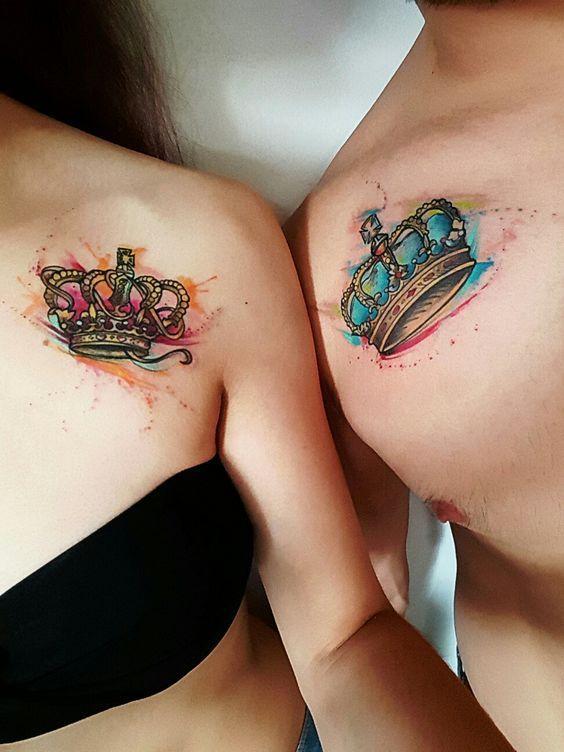 31 Crown Tattoo Ideas That Fit Royalty Tatuajes De Parejas