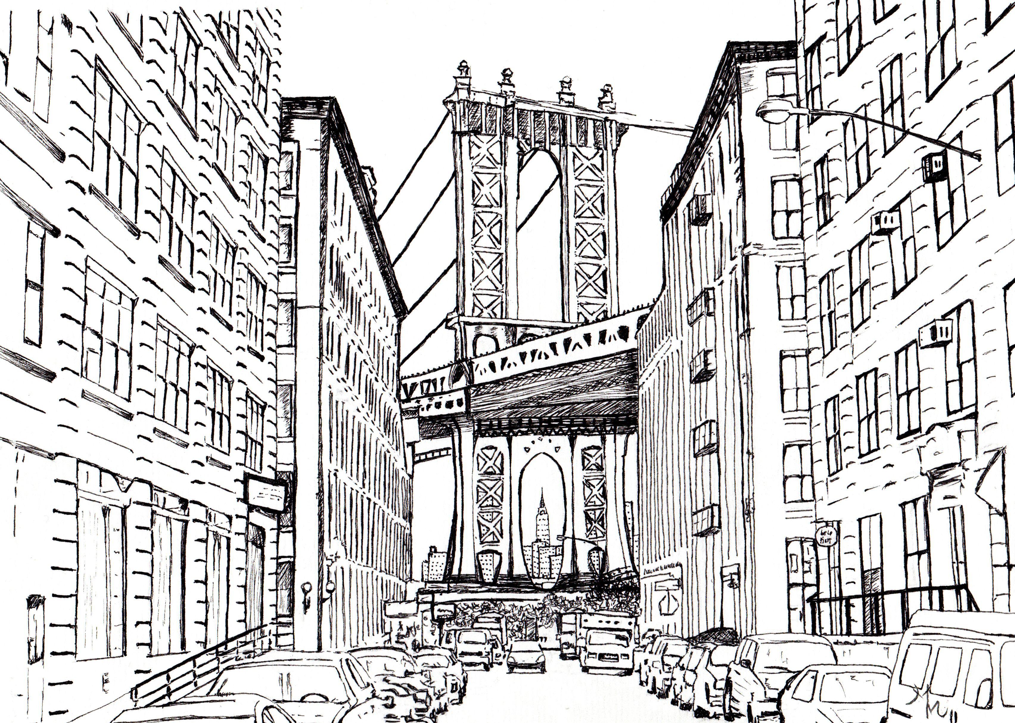 new york dessins pinterest feutre noir feutres et york. Black Bedroom Furniture Sets. Home Design Ideas
