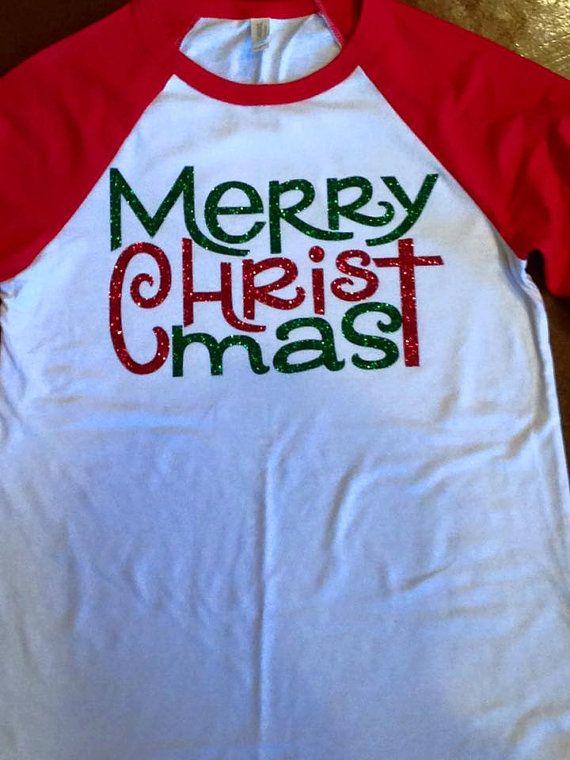 dafcf36f27a2 Merry Christmas Shirt, Merry CHRISTmas, Christmas shirt | Country ...