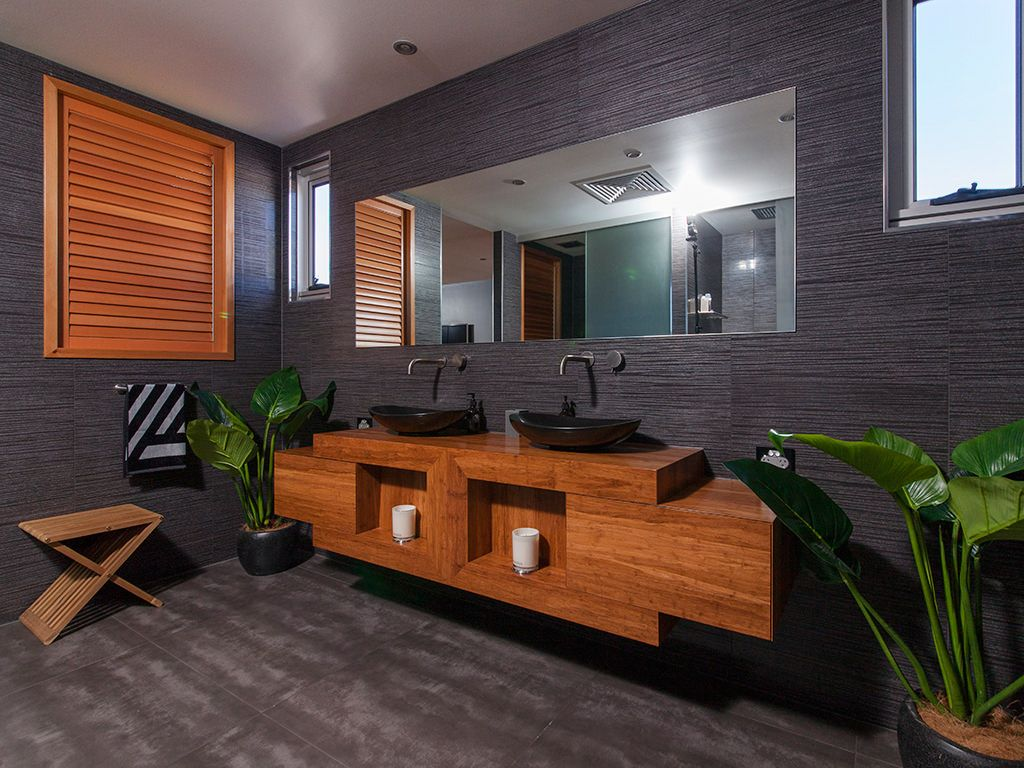 H.I.A. Awards: Best Overall Custom Built Home, Best Bathroom and Best Outdoor Living. Built by Ash Moseley Homes. Finishes supplied by Coolum Tile