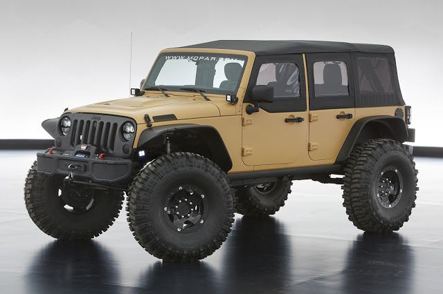 2013 Jeep Wrangler Sand Trooper Ii Concept Jeep Concept Easter