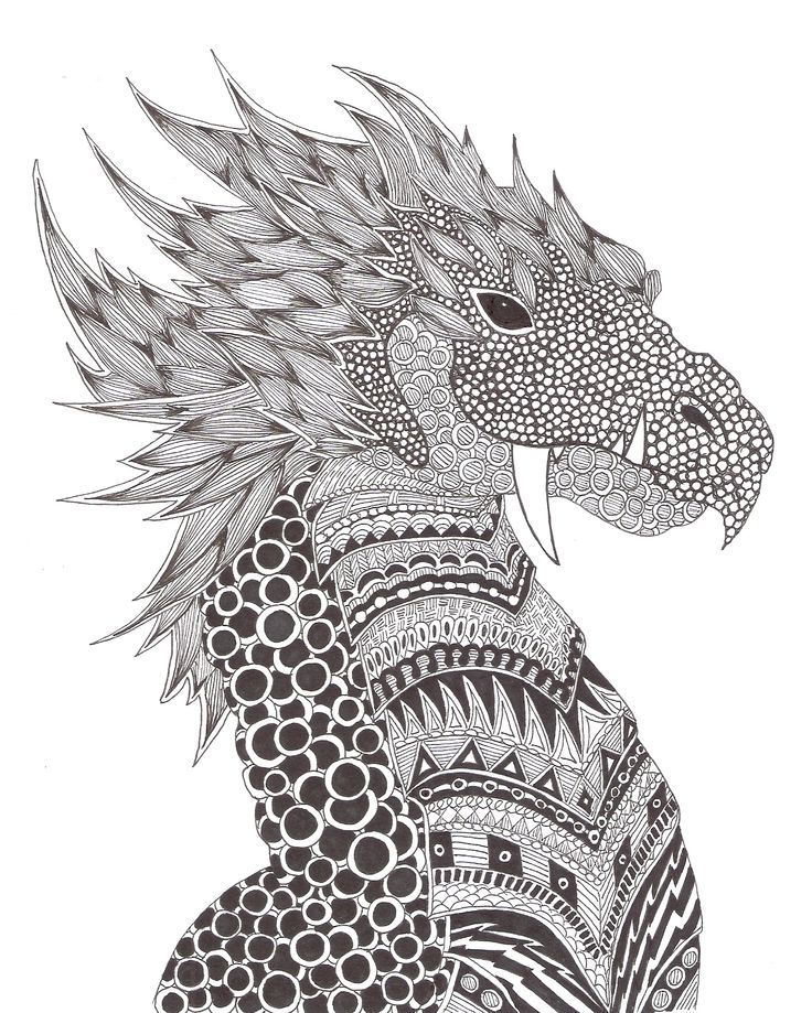 Dragon zentangle cerca con google mandalas malvorlagen erwachsene malen und zeichnen y - Mandala de dragon ...