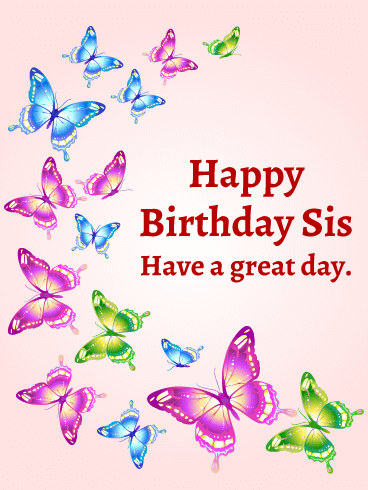 Pin On Birthday Cards For Sister