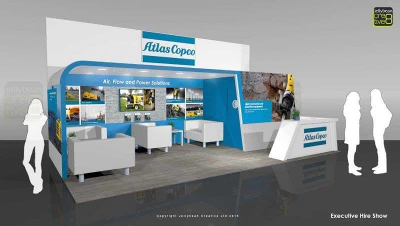 Custom Exhibition Stands Uk : Custom exhibition stands atlas copco uk bespoke exhibition stands