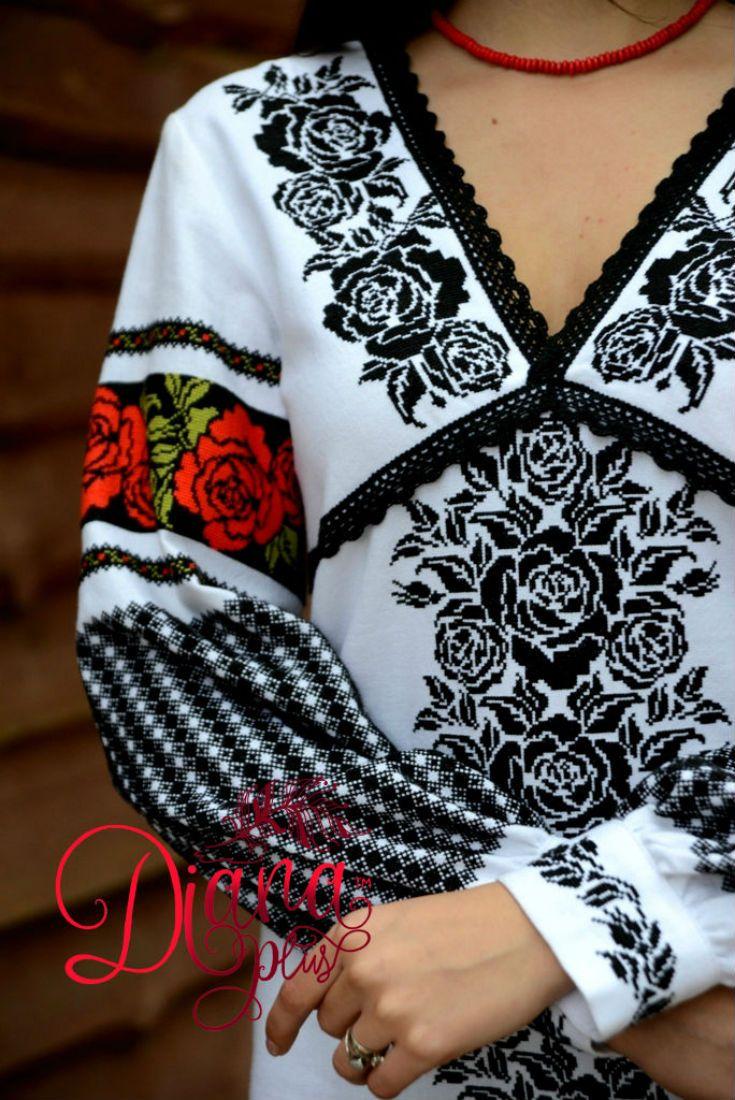 c21d51ebfb975e Традиційна борщівська вишиванка, сучасна вишивка Жіноча вишита хрестиком  сорочка Вышиванка женская, крестом Схема и