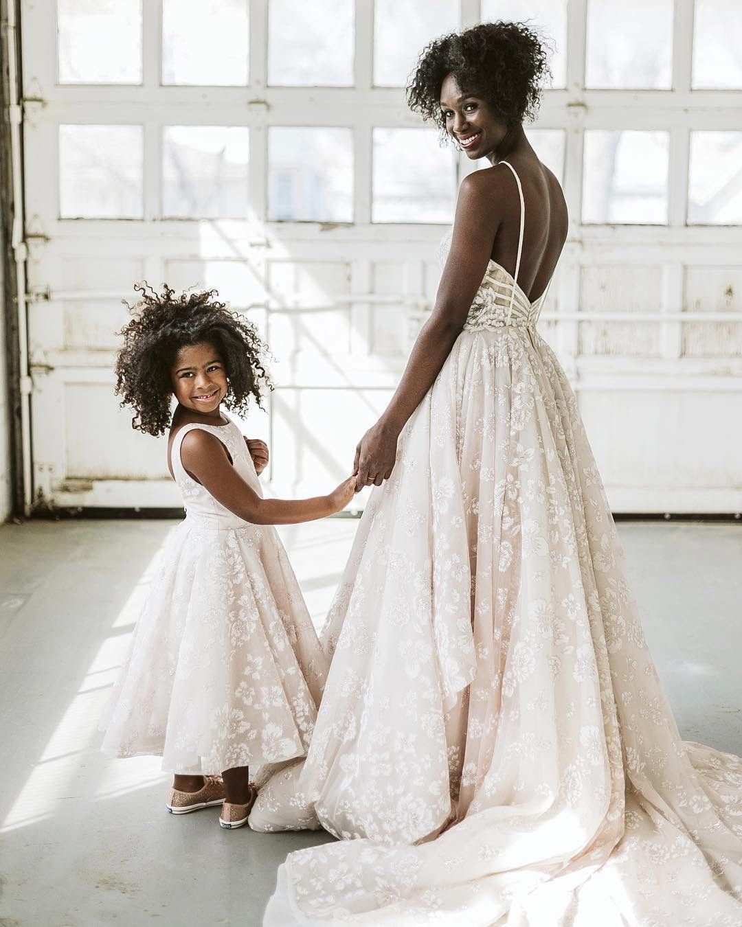 bd39ea992ea Matching wedding dress   flower girl dress by Hayley Paige