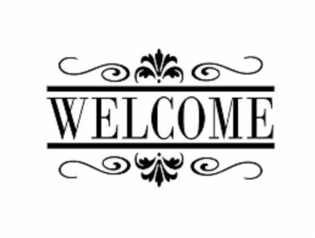 Large Custom Business Welcome Sign Vinyl Decal Sticker Window Door - Large custom vinyl decals