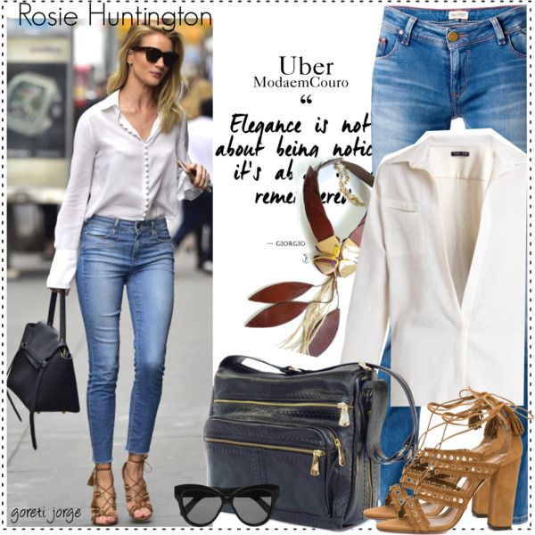 How To Wear Rosie Huntington Celebrity Style Outfit Idea 2017 - Fashion Trends Ready To Wear For Plus Size, Curvy Women Over 20, 30, 40, 50