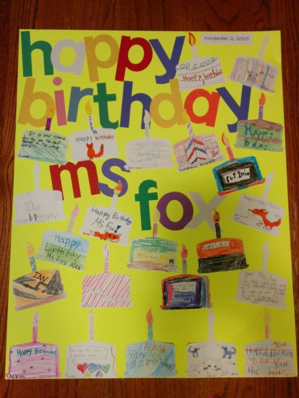 teacher birthday card with student artworknotes  teacher