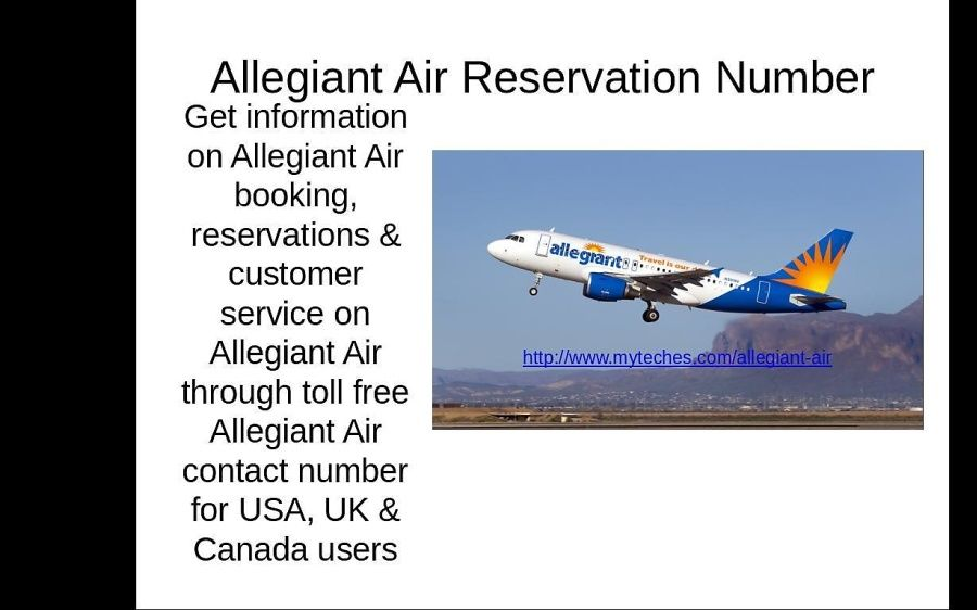 Allegiant Air Phone Number Reservations Booking Myteches