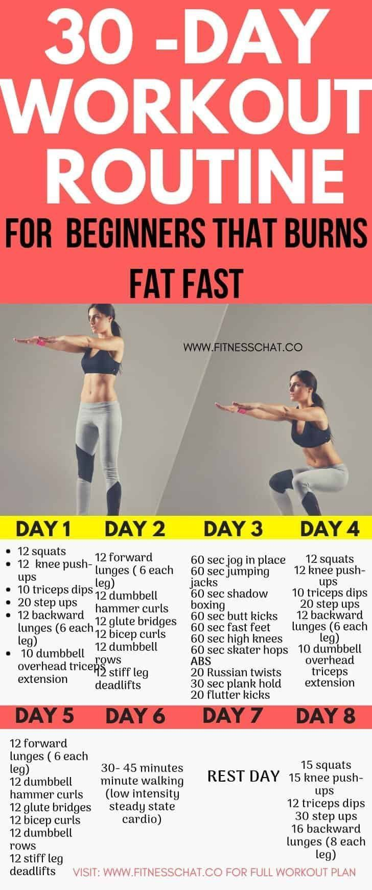 30-Day Fat Burning Workout Routines for Beginners -  - #30Day #Beginners #burning #Fat #Routines #Wo...