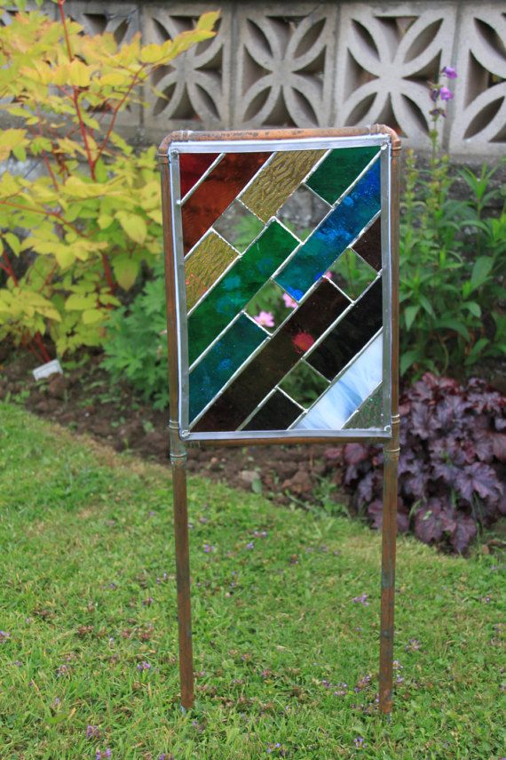 Bon Tiffany Style Stained Glass Garden Art By AdaStainedGlass On Etsy