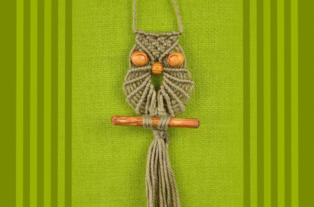 Macrame Owl / Makramee Eule / Макраме сова   Handmade ...