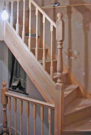 loft conversion stairs see deck railing at http. Black Bedroom Furniture Sets. Home Design Ideas