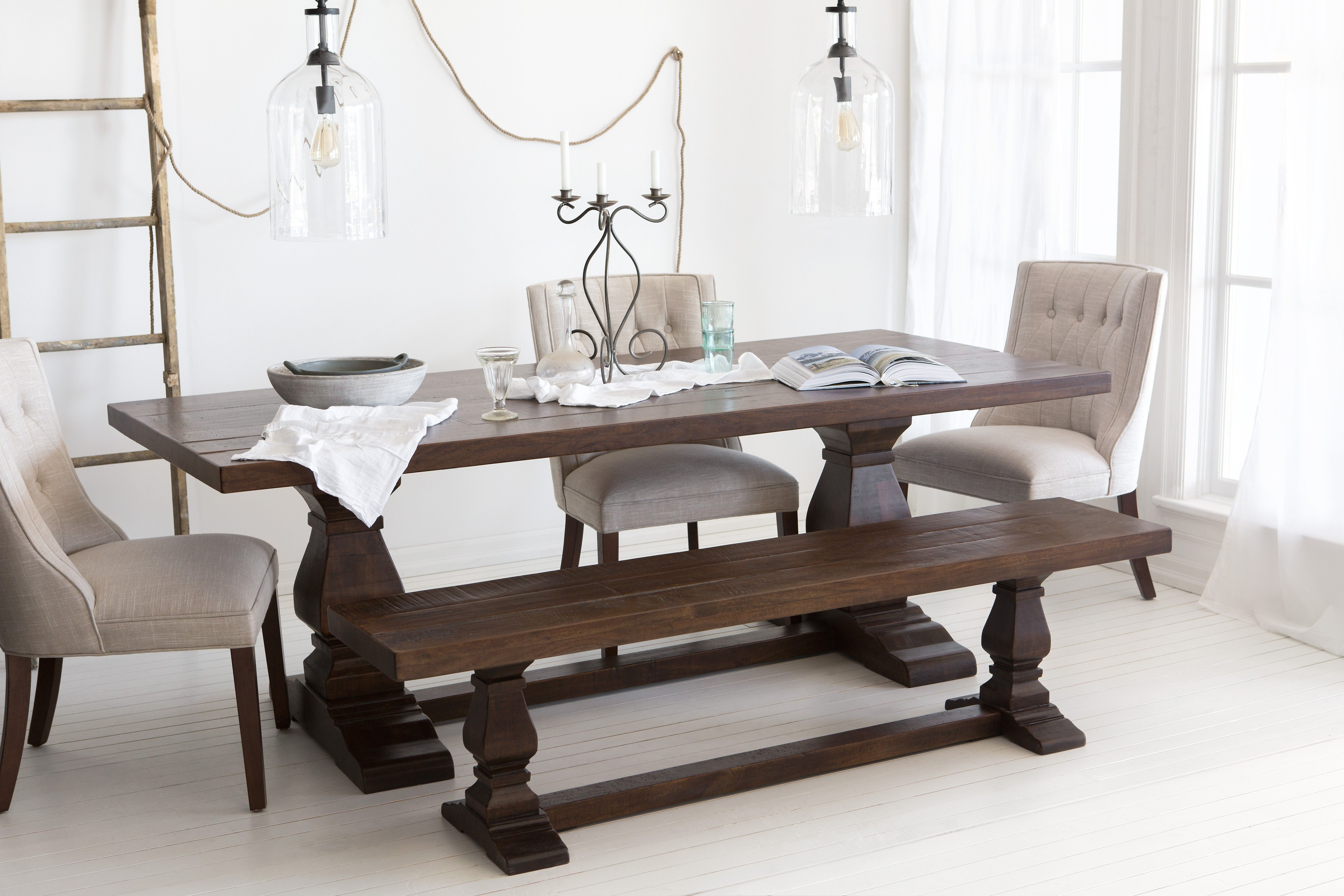 Outstanding Castle Acacia Wood Dining Table 220Cm 87 Dining Table Dailytribune Chair Design For Home Dailytribuneorg