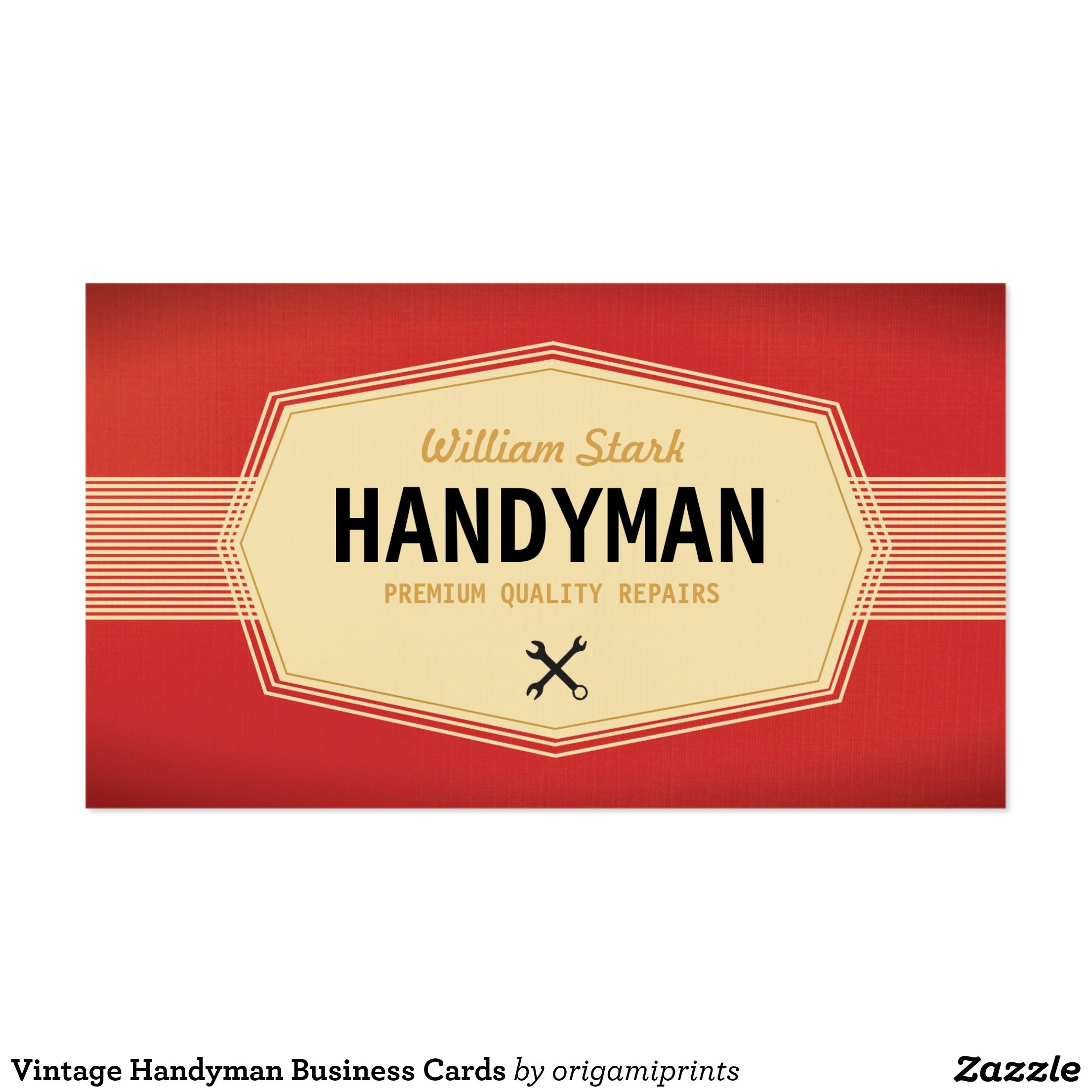 Vintage Handyman Business Cards | Handy man business ideas ...
