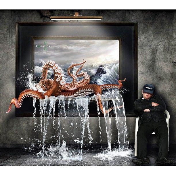 #Surreal #art #Surrealistic #Digitalart #manipulation #Digitalmanipulation #DigitalEdit #SurrealArt #DarkARt #octopus