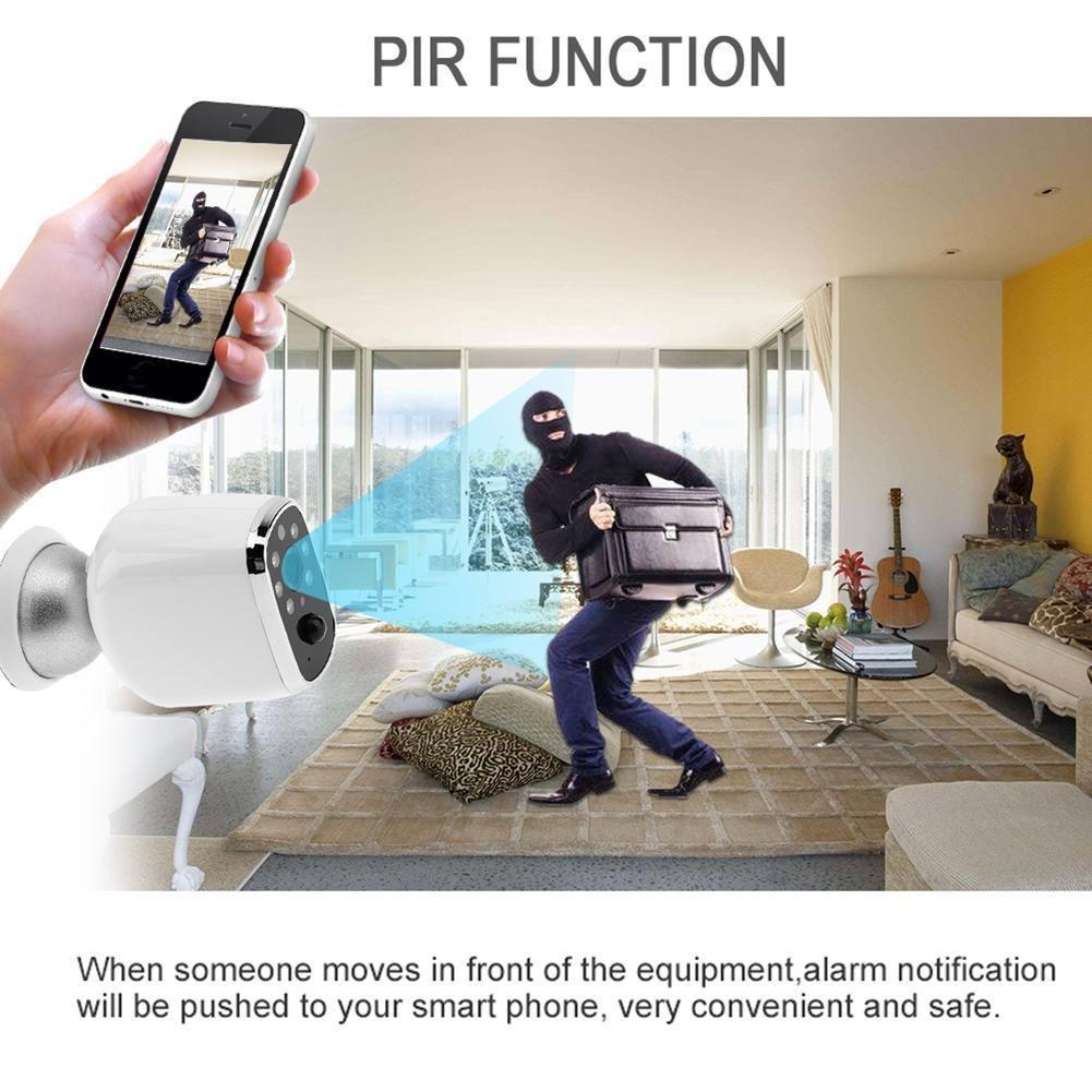 720P Wireless WIFI IP PIR Surveillance HD Camera IR Night