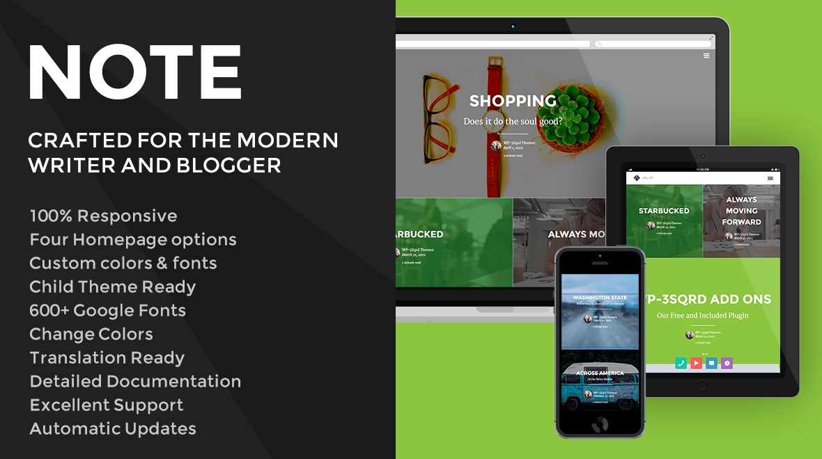Note - A Modern WordPress Blogging Theme  The perfect #WordPress theme for an already established blogger looking to update their look to something more modern.