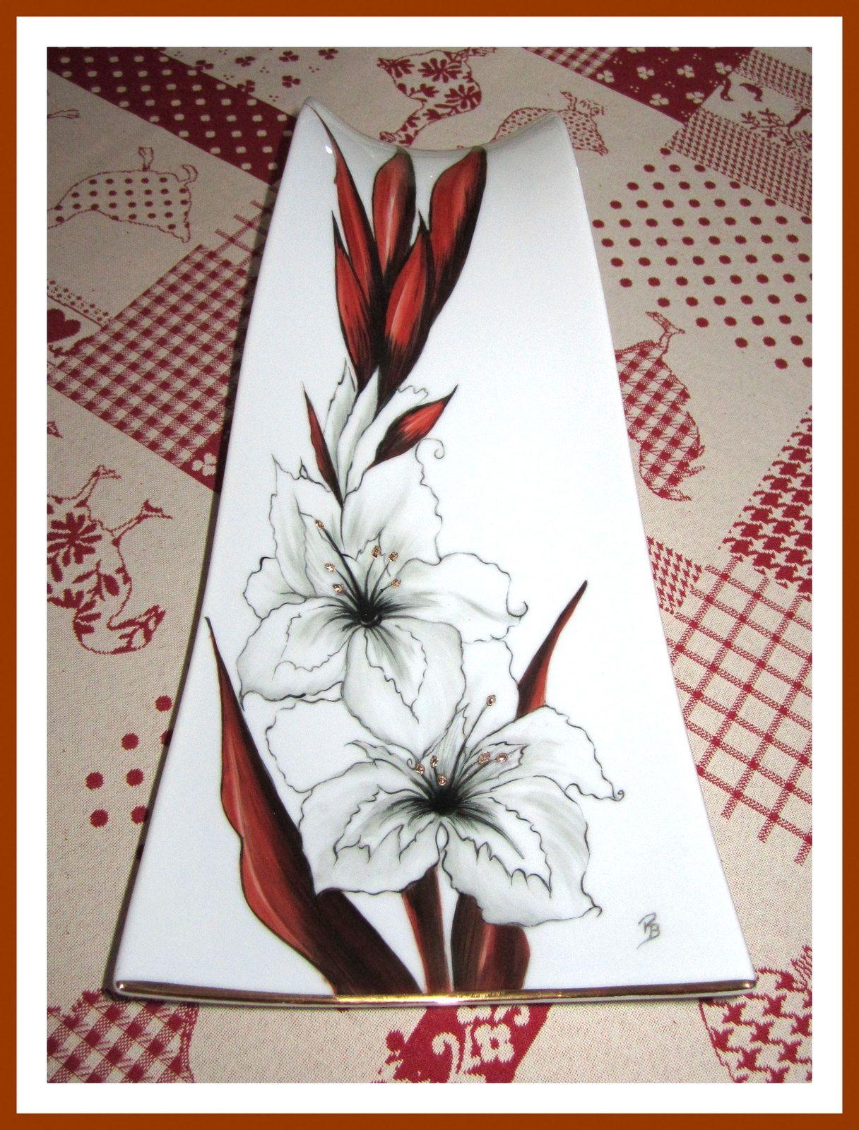 nouveaut s vases porcelaine peinte porcelaine et. Black Bedroom Furniture Sets. Home Design Ideas